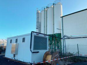 Aufstellung unseres Druckluftcontainers in Rheinbach